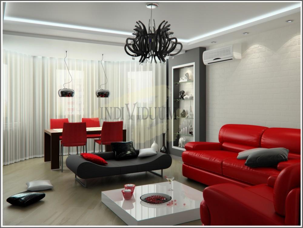 Гостиная С Красной Мебелью В Москве