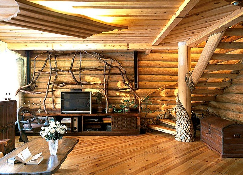 Внутренняя деревянных домов своими руками
